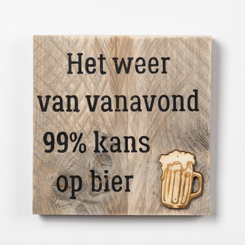 Tekstbord - Kans op bier