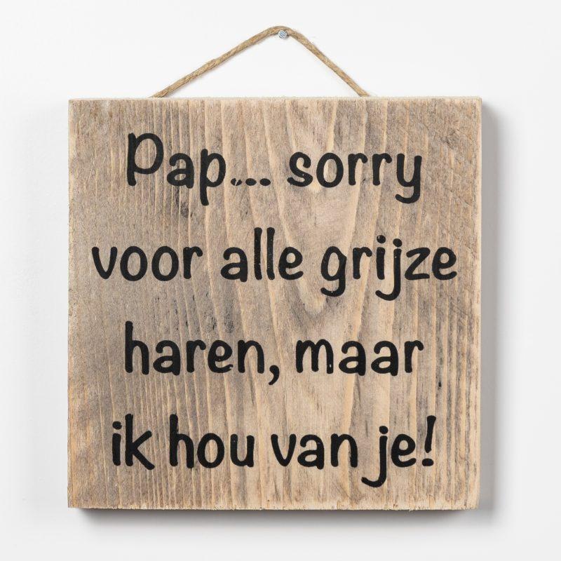 Tekstbord - Pap sorry