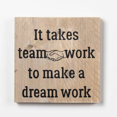 Tekstbord - Team work