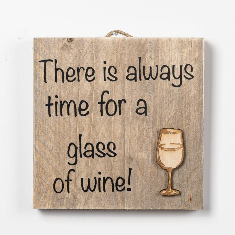 Tekstbord - Glass of wine