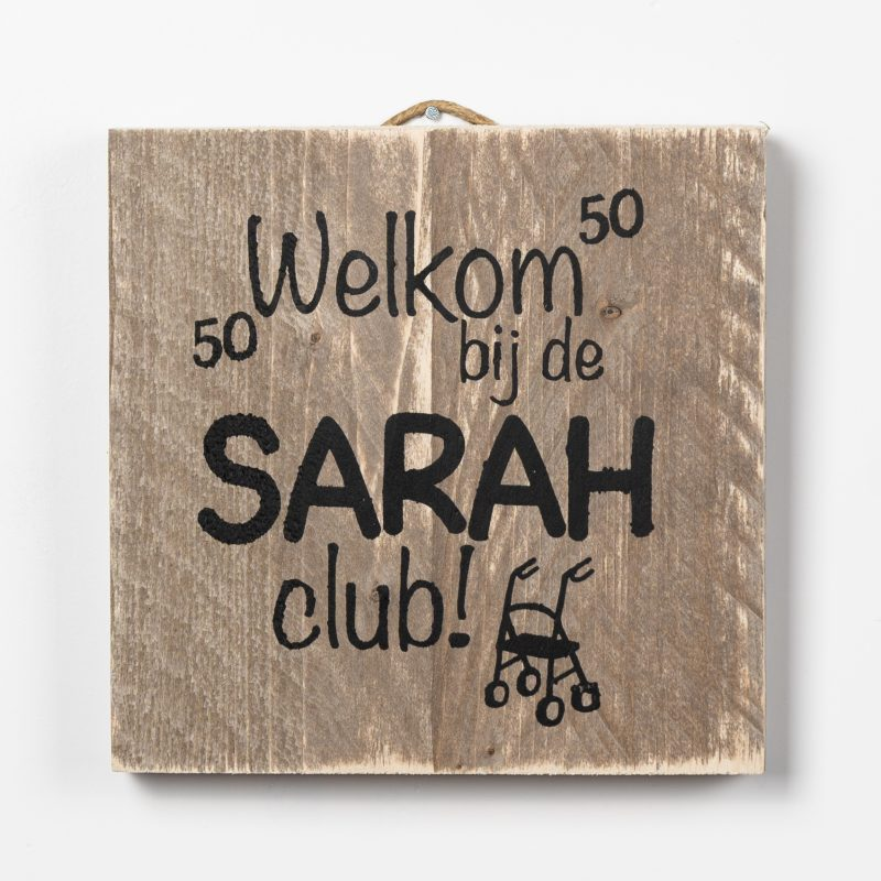 Tekstbord - Sarah