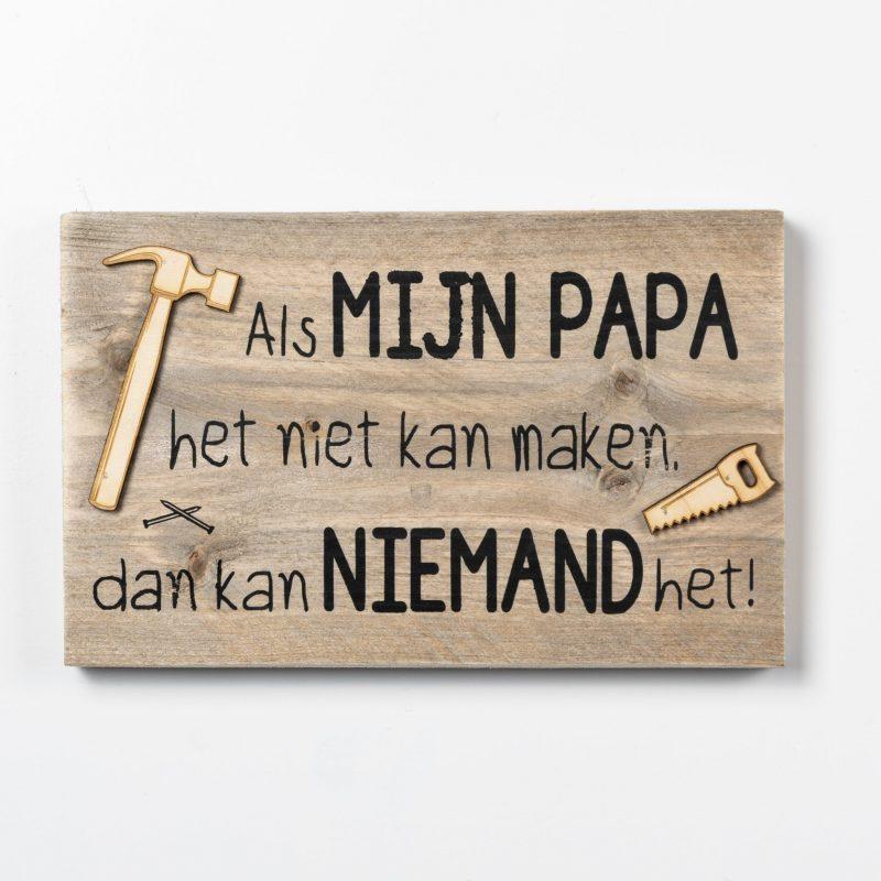 Tekstbord - Mijn papa