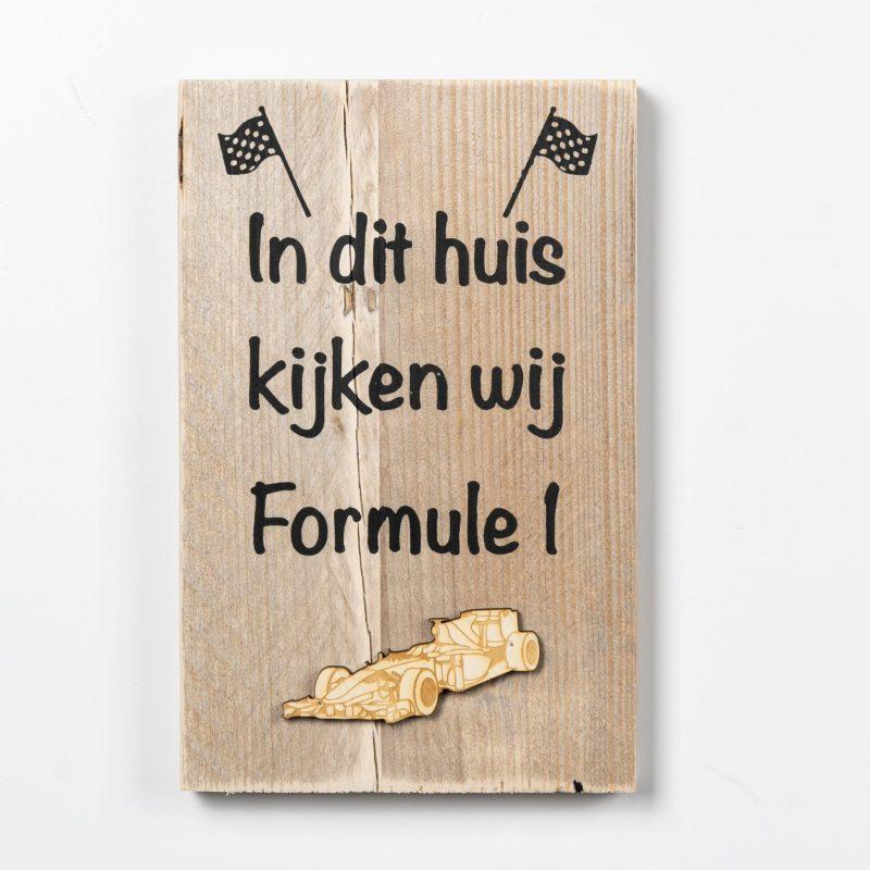 Tekstbord - Formule 1