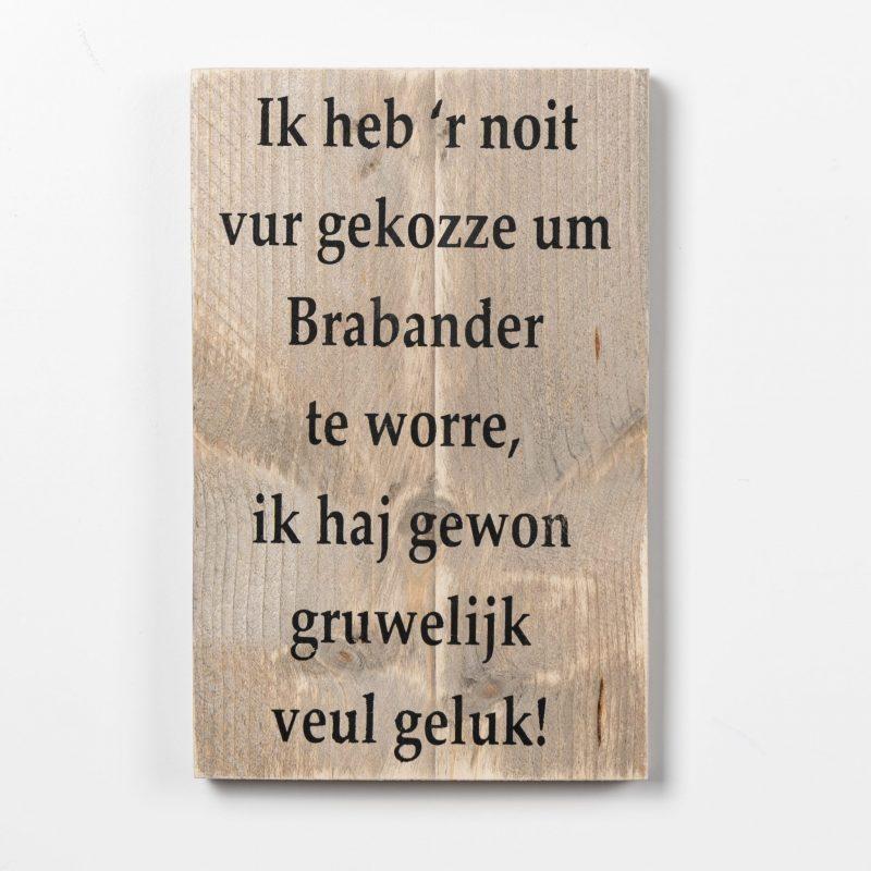 Tekstbord - Brabander