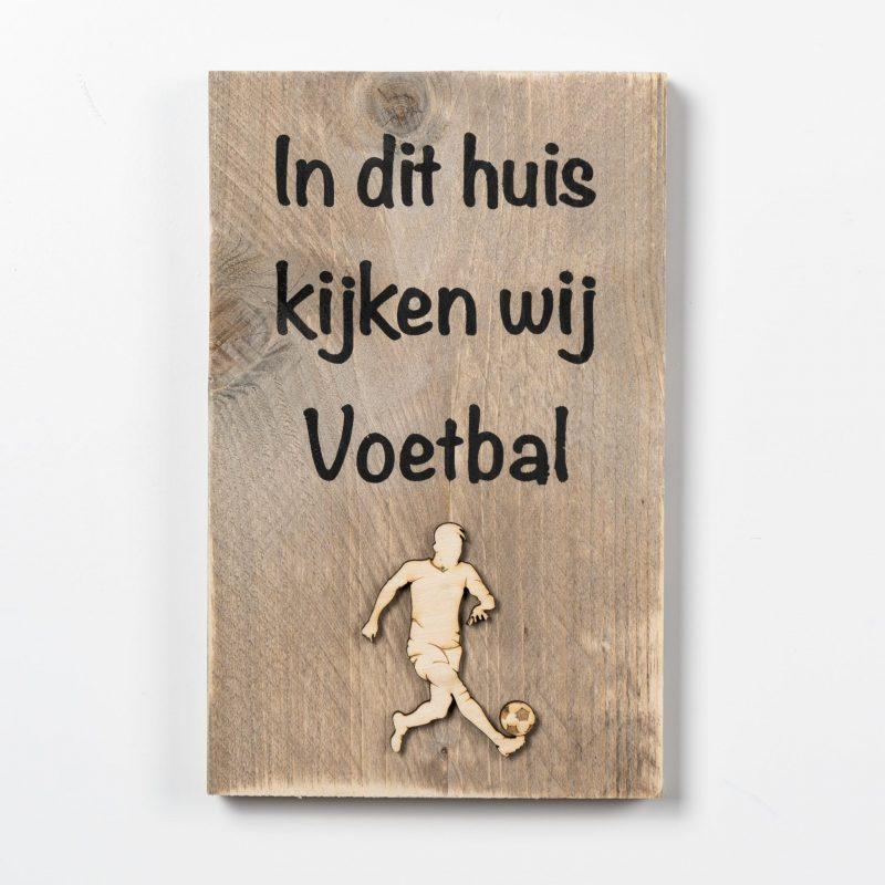 Tekstbord - Voetbal