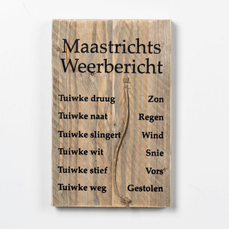 Tekstbord - Maastrichts weerbericht