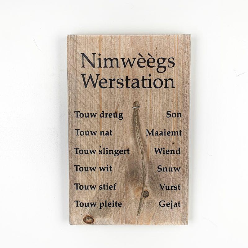 Tekstbord - Weerstation Nijmegen