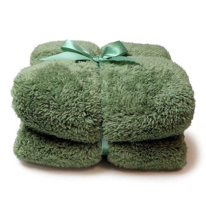 Plaid Teddy Oil Green