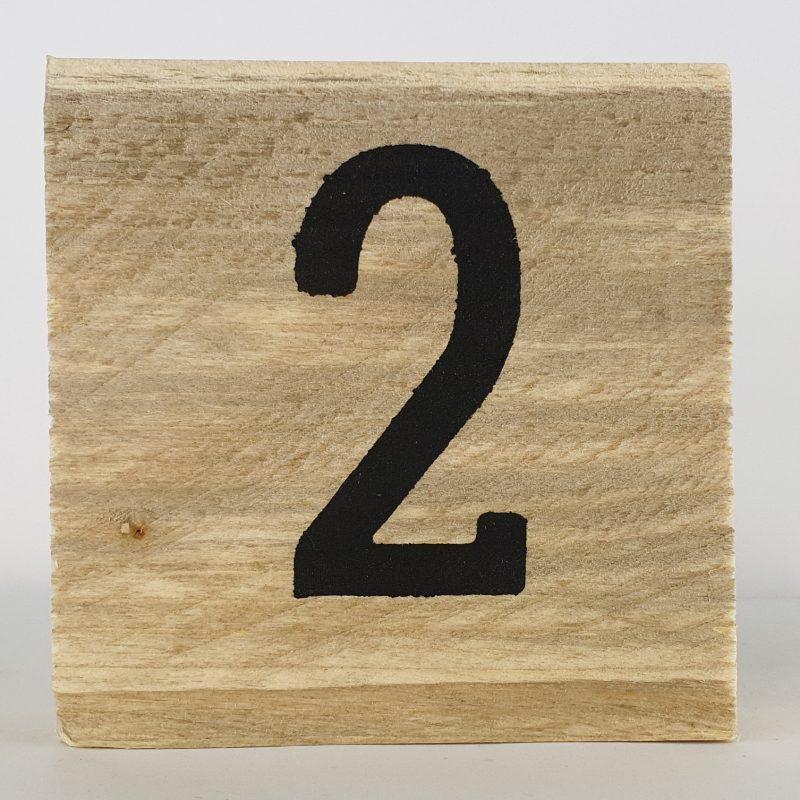 Houten cijfers 2