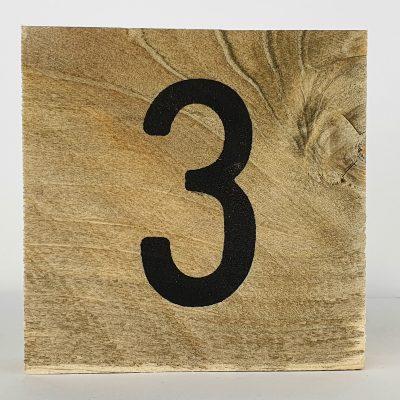 Houten cijfers 3