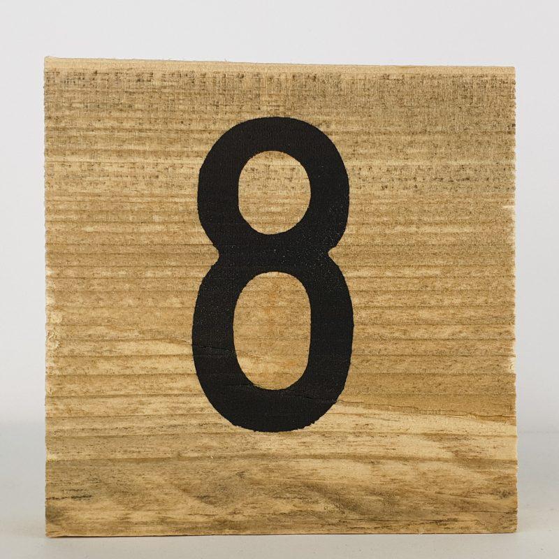 Houten cijfers 8