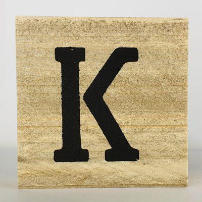 Houten letters K