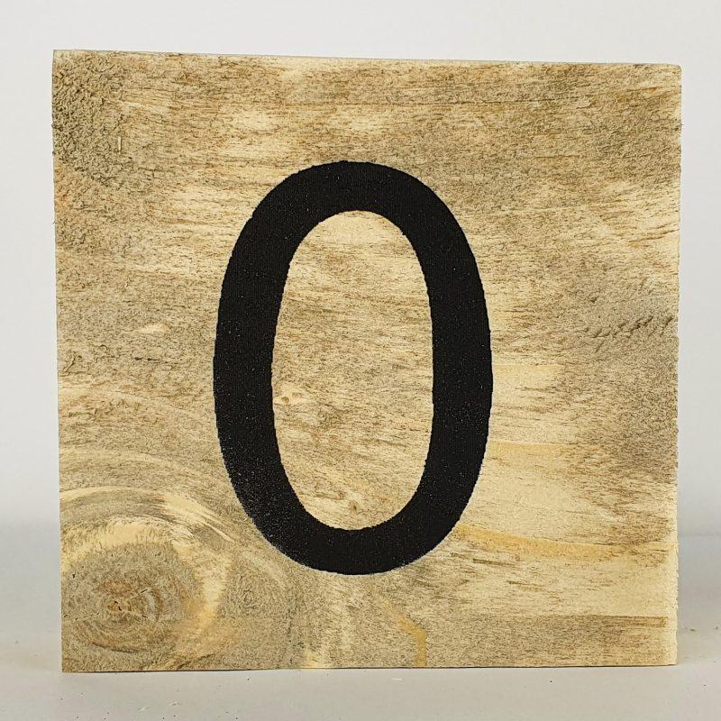 Houten letters O