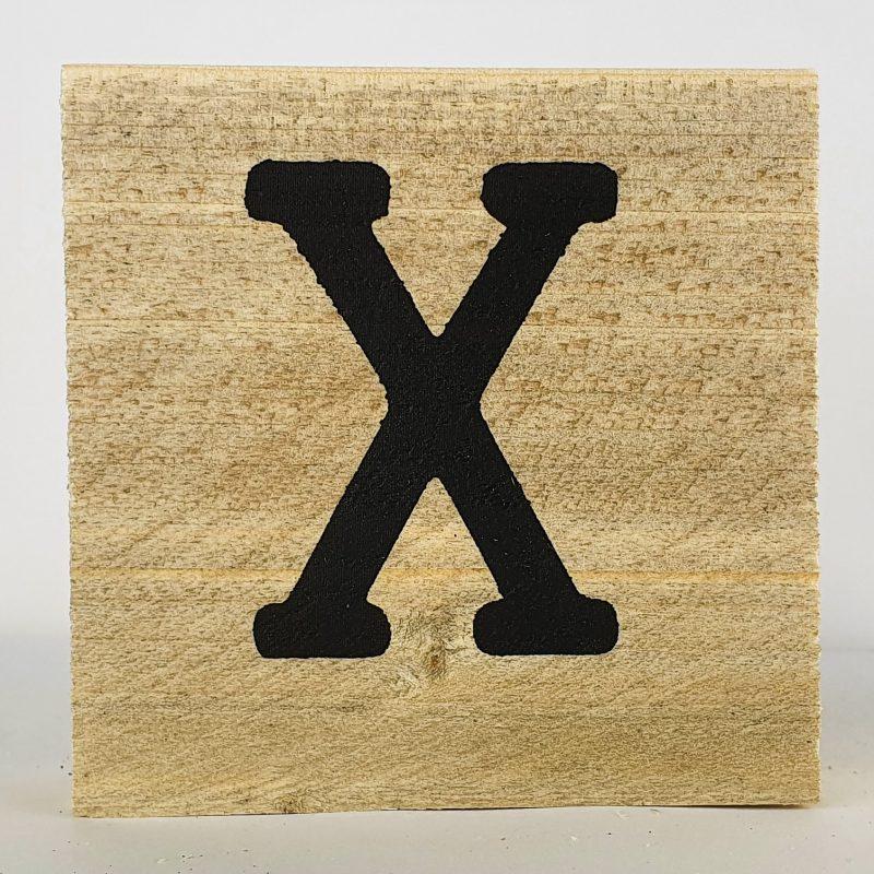 Houten letters X
