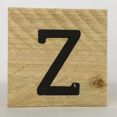 Houten letters Z