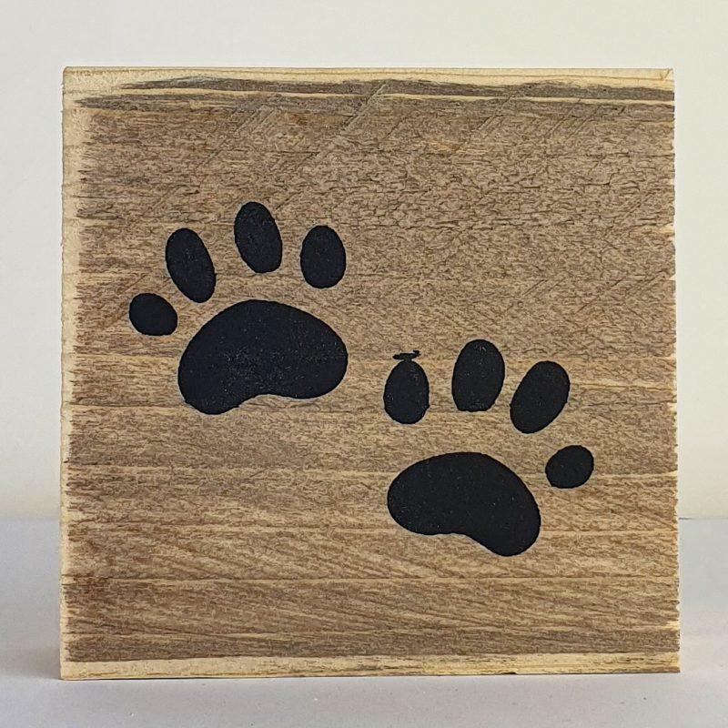 Houten symbool - Honden poot