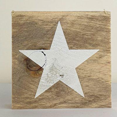 Houten symbool - Ster