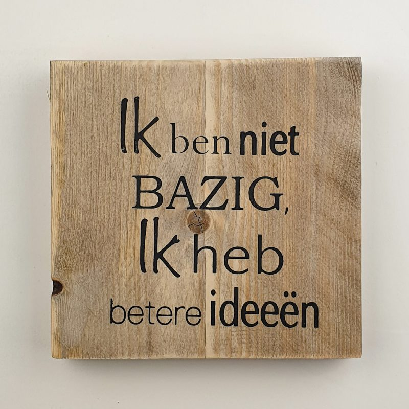 Tekstbord - Bazig