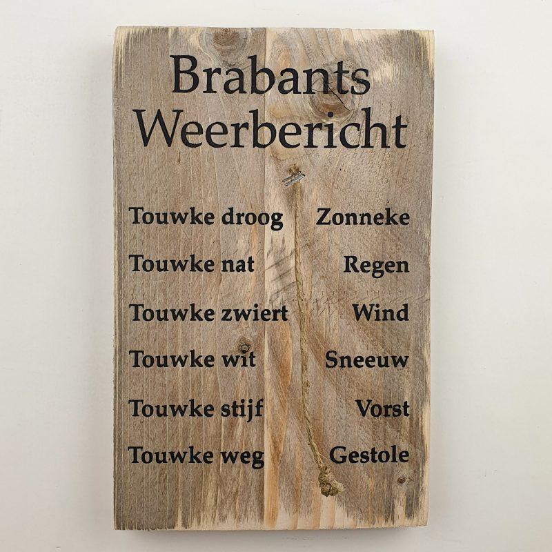 Tekstbord Brabants weerbericht