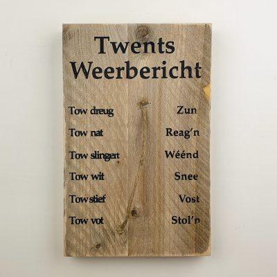Tekstbord - Twents Weerbericht